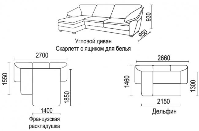 Выкройка накидки на угловой диван  фото